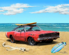 1968 Dodge Charger Surf Muscle Car Beach Cruiser