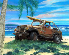 Jeep Wrangler Surf Jeepster 4x4 Off Road Beach Cruiser