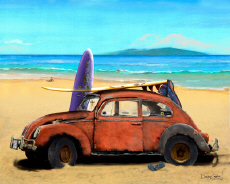Volkswagen VW Beetle Bug Sedan Surf Beach Cruiser