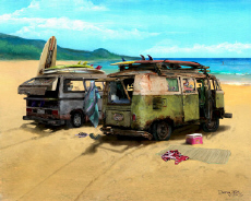 Volkswagen VW Van Vanagon Surf Bus Beach Cruiser