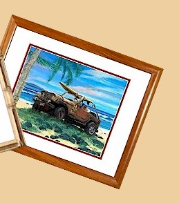 Tropical Bamboo and Hawaiian Koa Framed Prints