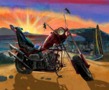 Chopper Bike Canvas Giclée Art Print